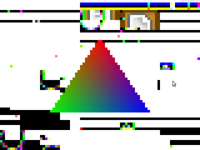 Triangle Rendered into Smaller Framebuffer
